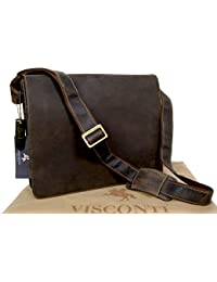 Visconti Leather Messenger Bag Workplace 18548 Harvard (L)