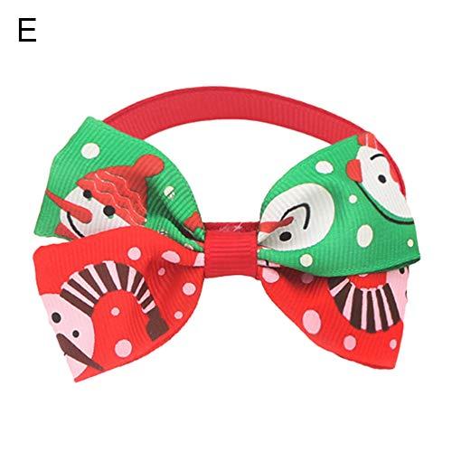 Renendi Haustier-Halsband, mit Fliege, verstellbar, Weihnachten, Feiertagsfeier, Party-Dekoration - Knallbonbon Kostüm