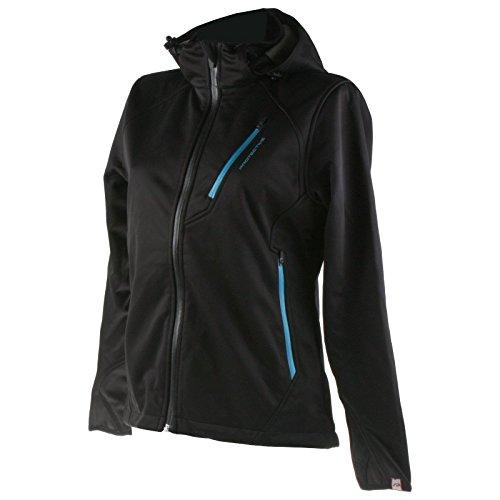 Protective Softshell Damen Sport Freizeit Jacke Wind Wasser Outdoor Funktion Schwarz Blau,