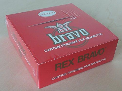 Saul Sadoch Cartine Bravo Classic, Rosso, s, 100 unità