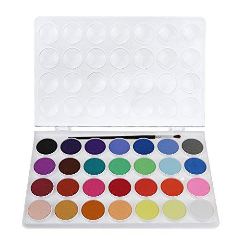Art Colori Acquerello Vernice pigmento color block Tin Set per principianti di disegno colorazione Doodling pittura artisti, 18 Colours, taglia unica