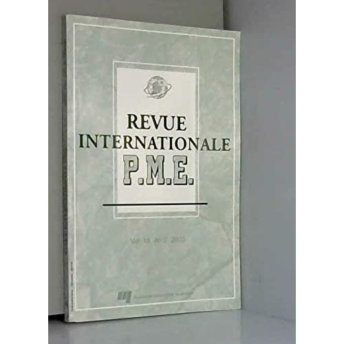Revue Internationale Pme V 16 N 02 2003