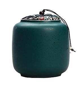 [Vert foncé] Boîte à thé en céramique Boîtes à café Spice Jar Tea Caddy
