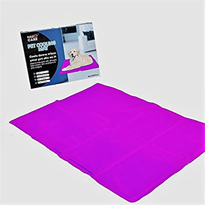 Self Cooling Gel Pet Dog Cat Cool Mat Pad Bed Mattress Heat Relief Non-Toxic 60 x 44cm Pink