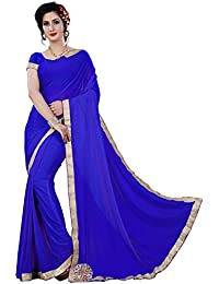 Krishna Emporia Women's Party Wear Cotton Silk Saree With Blouse Piece (Saree F1, Free Size)