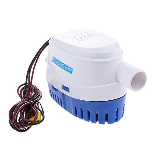 Sharplace Bomba de Agua de Sentina lotador Interruptor 12v 1100gph Automático Sumergible