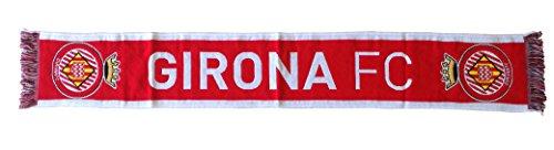 Girona FC Bufgir Bufanda Telar, Rojo / Blanco, 140 x 20 cm