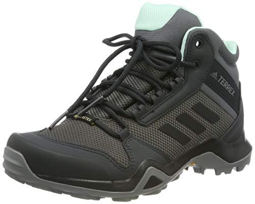 adidas Damen Terrex AX3 MID GTX W Traillaufschuhe, Mehrfarbig (Grey Five/Core Black/Clear Mint Bc0591), 37 1/3 EU