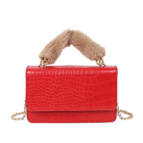 Barlingrock Frauen Handtasche Kleine Mode Stein Crossbody Kette Tasche Umhängetasche, Klassische Damen Tasche, Mode Umhängetasche, Schultergurt Handtasche für Frauen