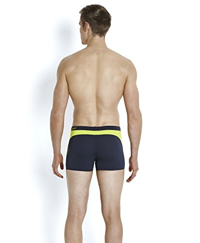 Speedo Herren Logo Graphic Splice Aquashorts Badehosen Oxid Grey/Lime Punch