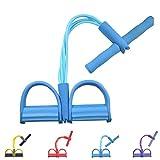 Gfung - Cuerda para ejercitar piernas, 4 Tubos, multifunción, para Yoga, Fitness, Pedal, dominadas,...
