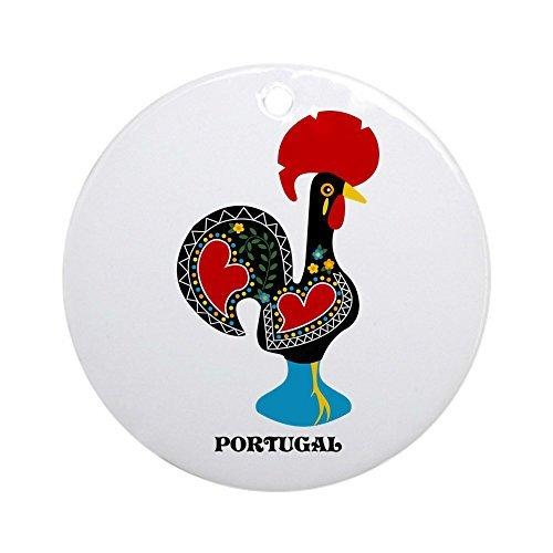 CafePress–portugiesischer, glückbringender Hahn, rund, Weihnachtsdekoration