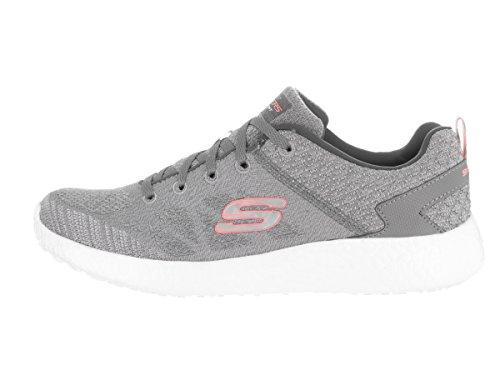 Skechers Burst New Influence, Baskets Basses Femme gray