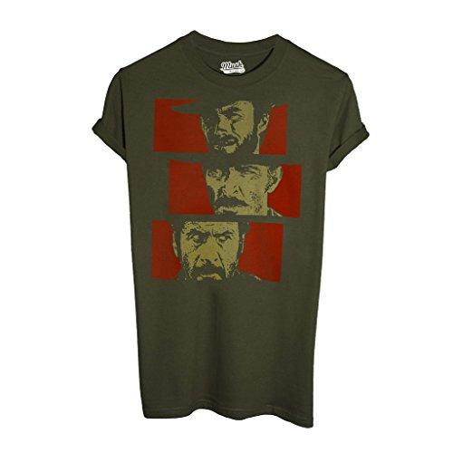 T-shirt il buono il brutto il cattivo - film by mush dress your style - uomo-m-verde militare