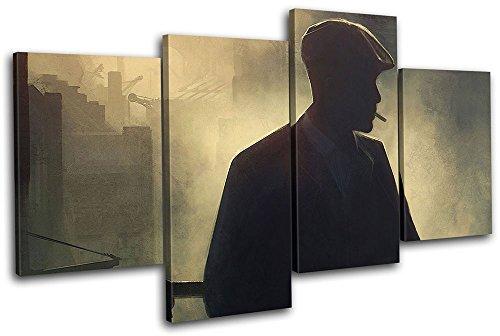 Bold Bloc Design - Peaky Blinders Television Show TV 80x45cm MULTI Boite de tirage d'Art toile encadree photo Wall Hanging - a la main dans le UK - encadre et pret a accrocher - Canvas Art P