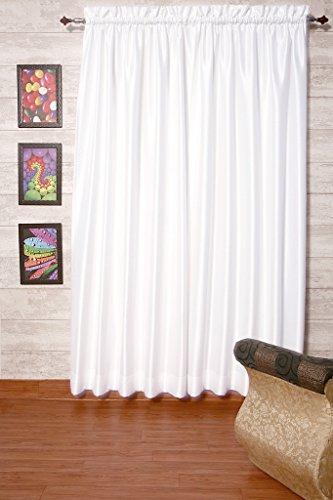 Blanco cortinas satén de seda Dupioni sintética, elección de piezas, anchura y longitud elección sin forro por zappycart., 104