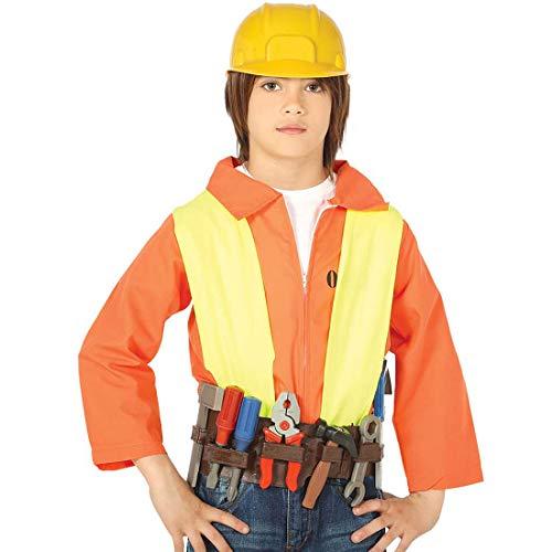 NET TOYS Realistischer Werkzeuggürtel mit Helm für Kinder - Praktisches Jungen-Kostüm-Zubehör Kinderwerkzeug Bauarbeiter - EIN Highlight für Kinder-Fasching & Kinderfest