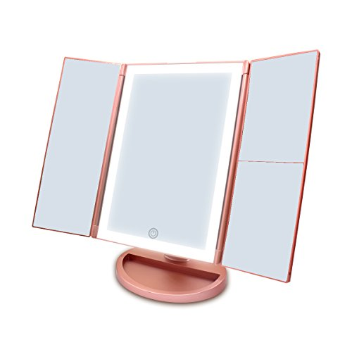 newest-36-led-nature-daylight-tri-fold-lighted-vanity-makeup-mirror-with-touch-screen-dimming-and-1x