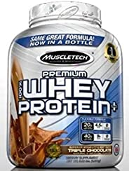MUSCLETECH PREMIUM 100% WHEY PROTEIN PLUS TRIPLE CHOCOLATE 5 LBS NEW PACK