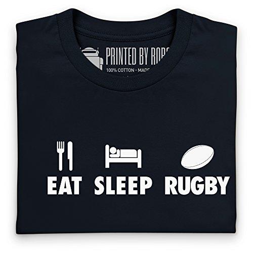 Eat Sleep Rugby T-Shirt, Herren Schwarz