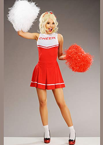 Magic Box Int. Sandy Style Red Cheerleader Kostüm für Damen Small (UK - Sandy Cheerleader Kostüm