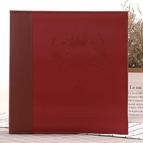 ZUEN Art Magnetic Self-Stick Seite Fotoalbum, Album DIY handgefertigte Geschenke Hochzeit Gästebuch Travel Memory Fotoalben,B -