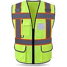 Vestimenta de Alta Visibilidad Vestuario Laboral Ropa de Trabajo (Color : Fluorescent Green)