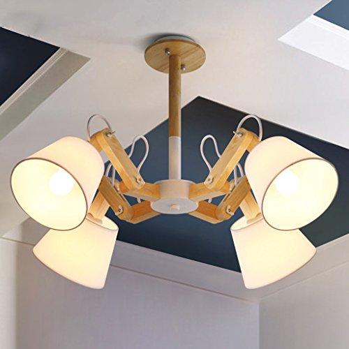 Kronleuchter Licht Shades Decke Kristalle - 4 Head Cafe Restaurant Mechanische Arm Kronleuchter (Farbe : Weiß)