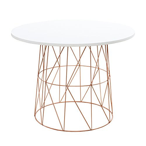 Moderner-Couchtisch-Beistelltisch-WIRE-TEA-TABLE-Metallgestell-in-kupfer-Tischplatte-in-wei-Metallkorb-Wohnzimmertisch-skandinavisches-Design
