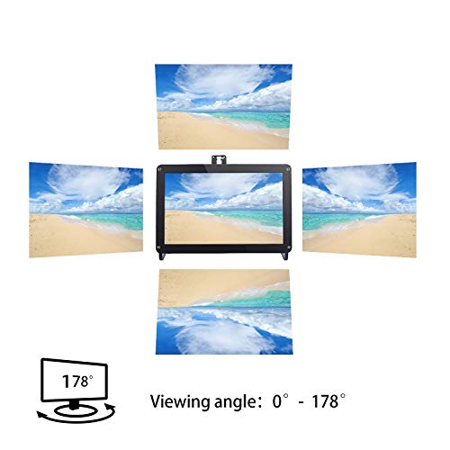 SunFounder 10.1'' Zoll IPS Monitor-Raspberry Pi 10.1 Inch HDMI IPS LCD Monitor Display High Resolution 1280×800 Camera Holder Stand for Rasp... 5