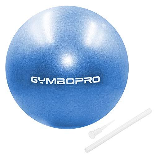 GYMBOPRO Palla da Ginnastica, Palla Fitness con Pompa Rapida, Antiscivolo Yoga Palla per Fitness Palestra Yoga Pilates (25 cm, Blu)