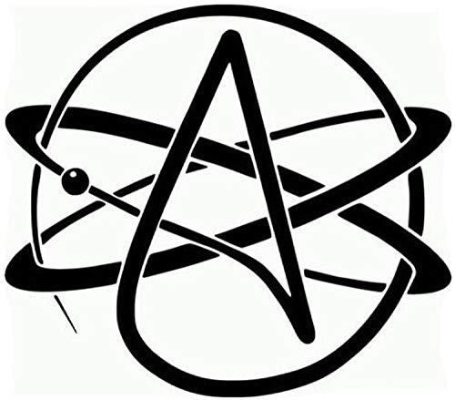 Wangcai 12,5 * 12,5 Cm Atheist Symbol Auto Aufkleber Aufkleber Motorrad Aufkleber Dekorative Auto Styling 2 Stücke