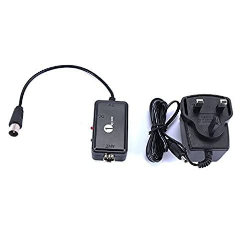 1byone Digital High Gain Low Noise Amplifier/Signal Booster for Indoor or Outdoor HDTV Aerial