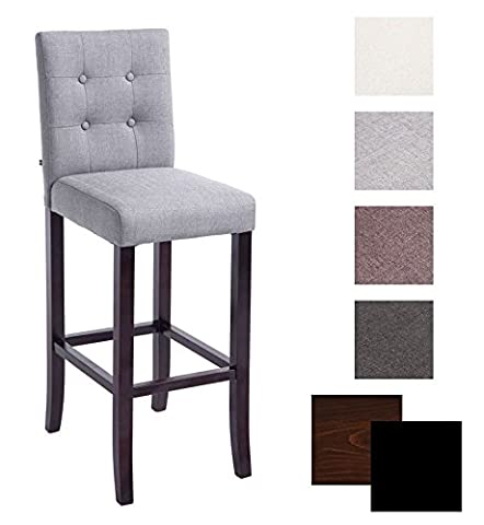 CLP Stylish bar stool with fabric cover BURDA, 10 cm