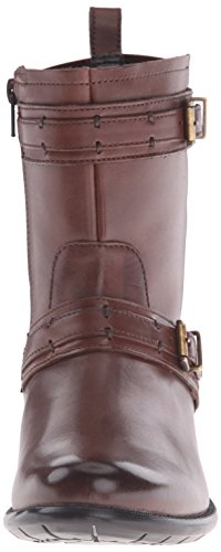 Clarks Plaza City Ingénieur Boot Brown Leather