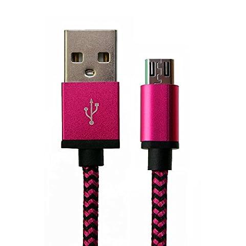 [i-rex] 3m Premium Micro-USB auf USB Ladekabel | Datenkabel | zugfestes Nylon mit hochwertigen Metallsteckern | kompatibel mit ( Samsung, HTC, Google LG Nexus, Sony, Smartphone, Tablet, und mehr…)
