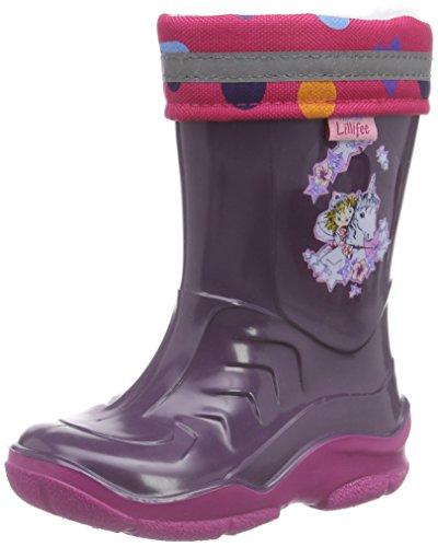 Prinzessin Lillifee 120114, Mädchen Halbschaft Gummistiefel, Violett (Viola), 26 EU
