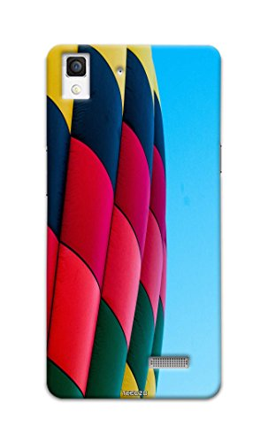 Tecozo Designer Printed Back Cover / Hard Case for Oppo R7 (Hot air balloon Design/Colourful) - Multicolor - D286  available at amazon for Rs.259