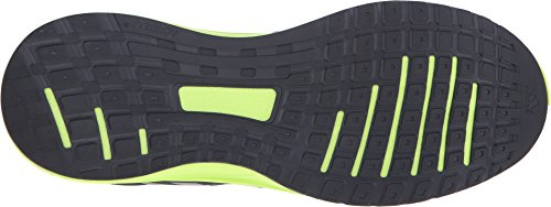 Adidas Performance Galactic Elite M Running Shoe, noir / vert / fer métallisé / gris, 6,5 M Us Dark Grey-Solar Yellow-Iron Metallic