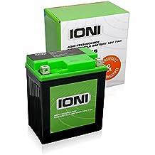 Motocicleta batería 12V 7Ah AGM ioni litio (tipo–Similar a ytx7l de BS) (sellados/ácido)