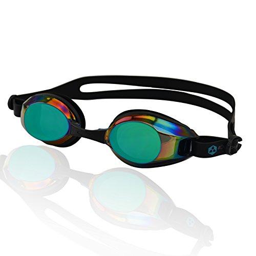 Occhialini da nuoto »Piranha«, 100% protezione raggi UV + anti-appannamento. Cinturino resistente in silicone + confezione rigida. QUALITÀ DELLE MIGLIORI MARCHE! AF-2100m, nero