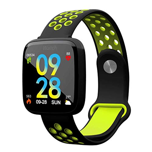 YYH Brazalete inteligente de pantalla grande Brazalete deportivo de pantalla a color de 1.3 pulgadas, reloj inteligente de monitoreo de presión arterial con frecuencia cardíaca impermeable, cuatro col