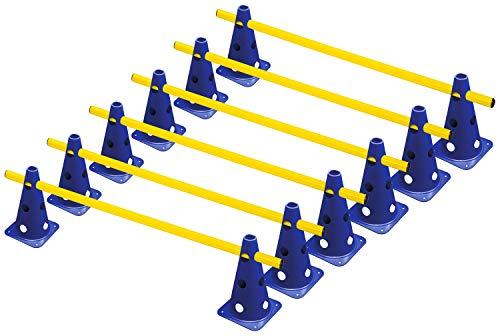 RHINOS sports Steckhürdenset, Kegelhürden 6er-Set | 22,5cm | blau