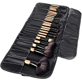 Makeup Brush Set with PU Leather Case  (Pack of 24) black