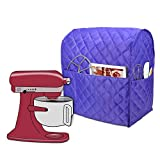 Luxja Housse de Protection Anti-Poussière pour KitchenAid Robot pâtissier et Accessoires supplémentaires, Violet (Tissu matelassé)