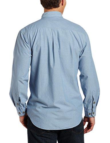Carhartt Herren Fort Leicht Chambray Knopfleiste Relaxed Fit LS Shirt S202 Blue Chambray