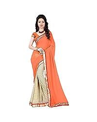 Airson Fab Orange line Designer Saree