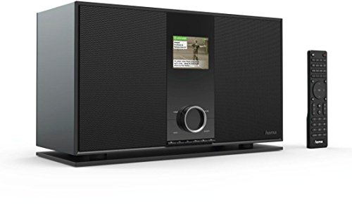 Hama Internetradio Digitalradio mit 2.1 Soundsystem (WLAN/LAN/DAB+/UKW/Multiroom/Bluetooth, USB, App, Fernbedienung, 3,2