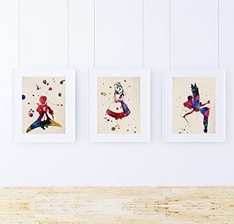 St?ck Krippenspiel Krippenspiele Einrahmung Blatt. watercolour-style Plakate mit Kindern Geschichten Bilder. Deko Zuhause. Einrahmung Blatt. 250?g hochwertiges Papier.