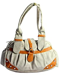SPERO ™ Women's Stylish Zip Lock Casual Off White Handbag With Free Shipping - B079265BW6